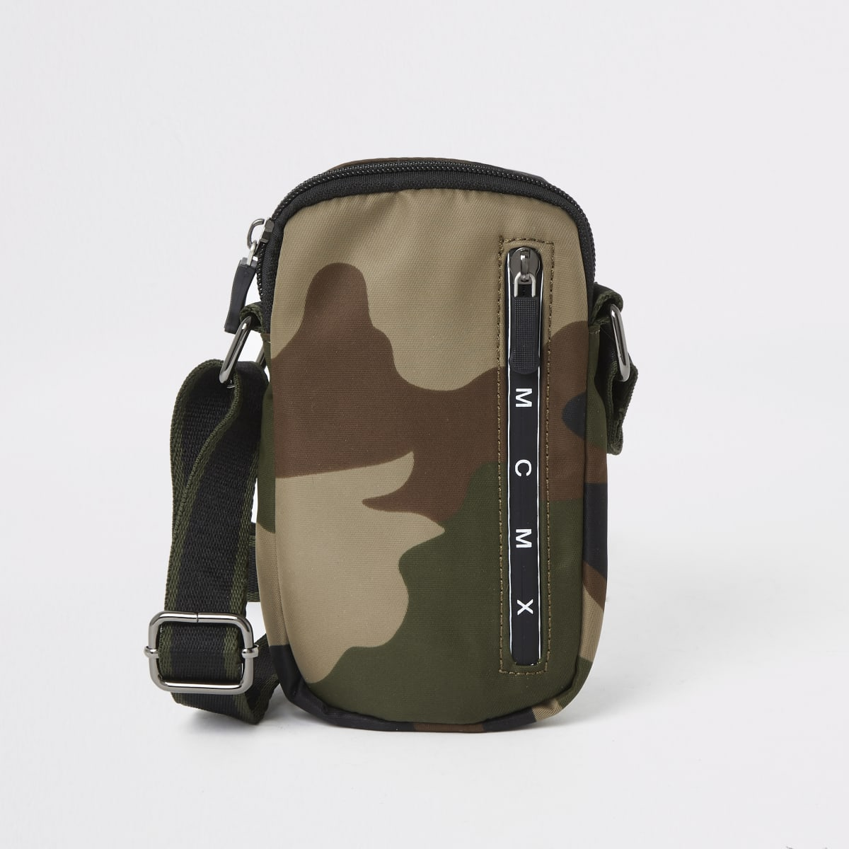 Mini boys camo print cross body flight bag