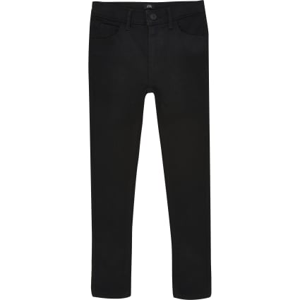 Boys black Ollie spray on skinny jeans