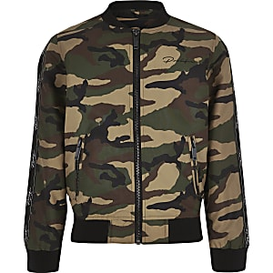 Blouson camouflage kaki pour garçon