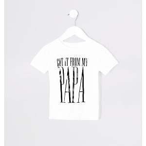 Twinning – T-shirt «From my papa» mini enfant