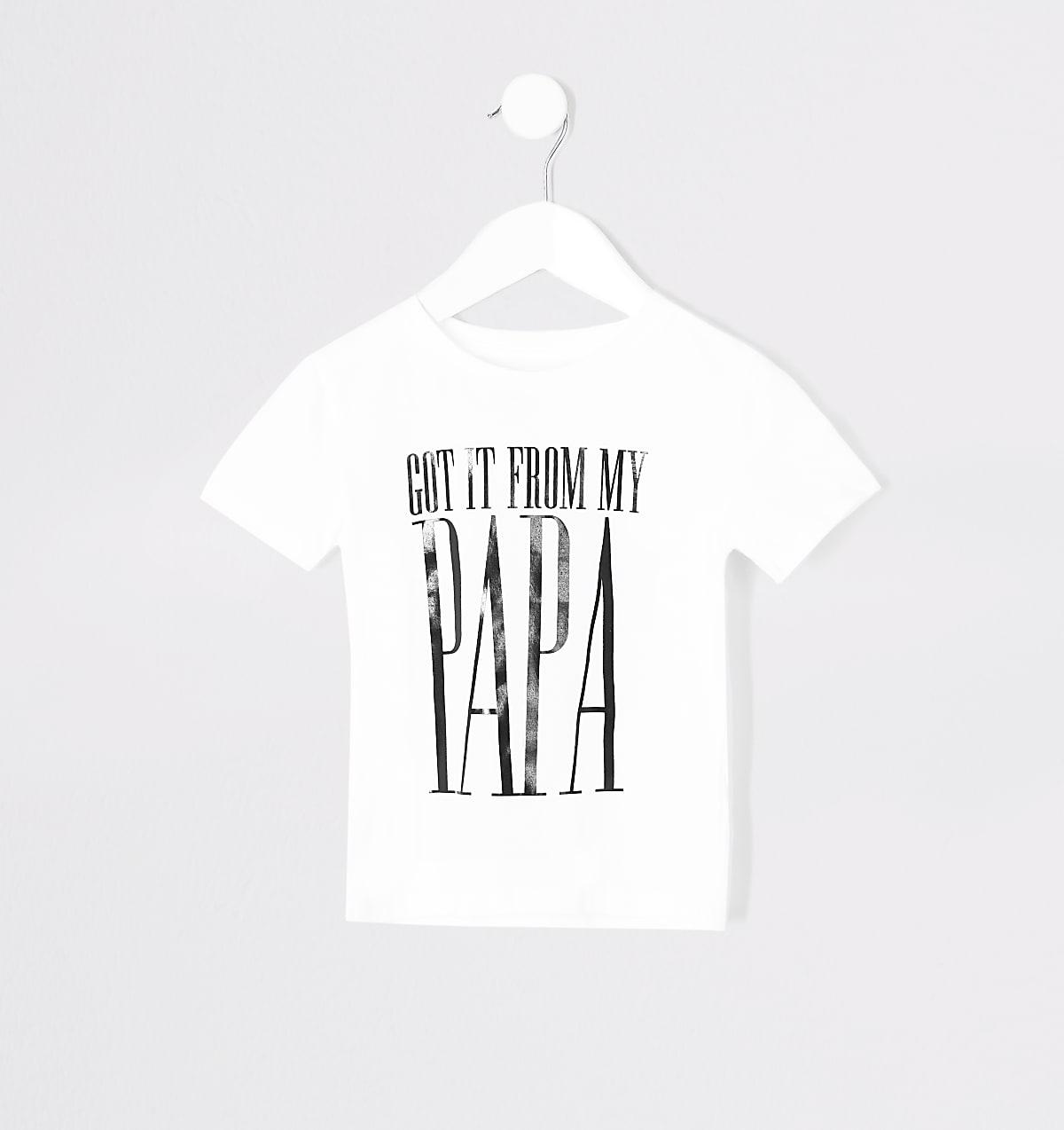Mini kids 'From my papa' twinning T-shirt