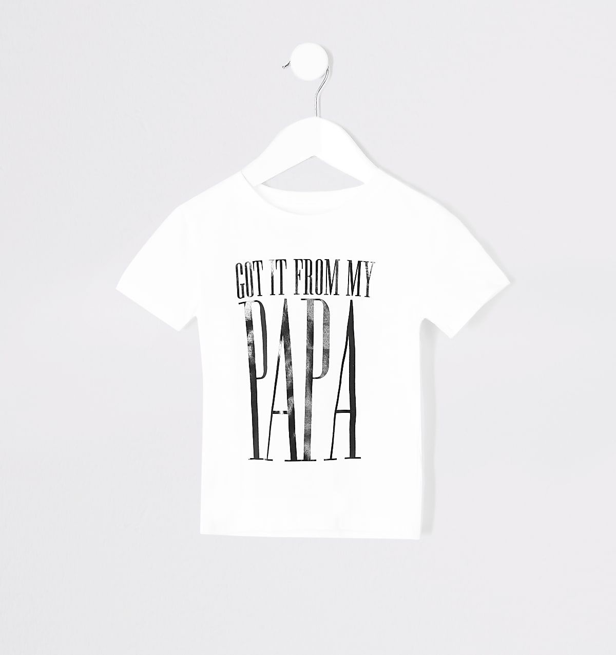 Mini kids 'From my papa' twinning T-shirt