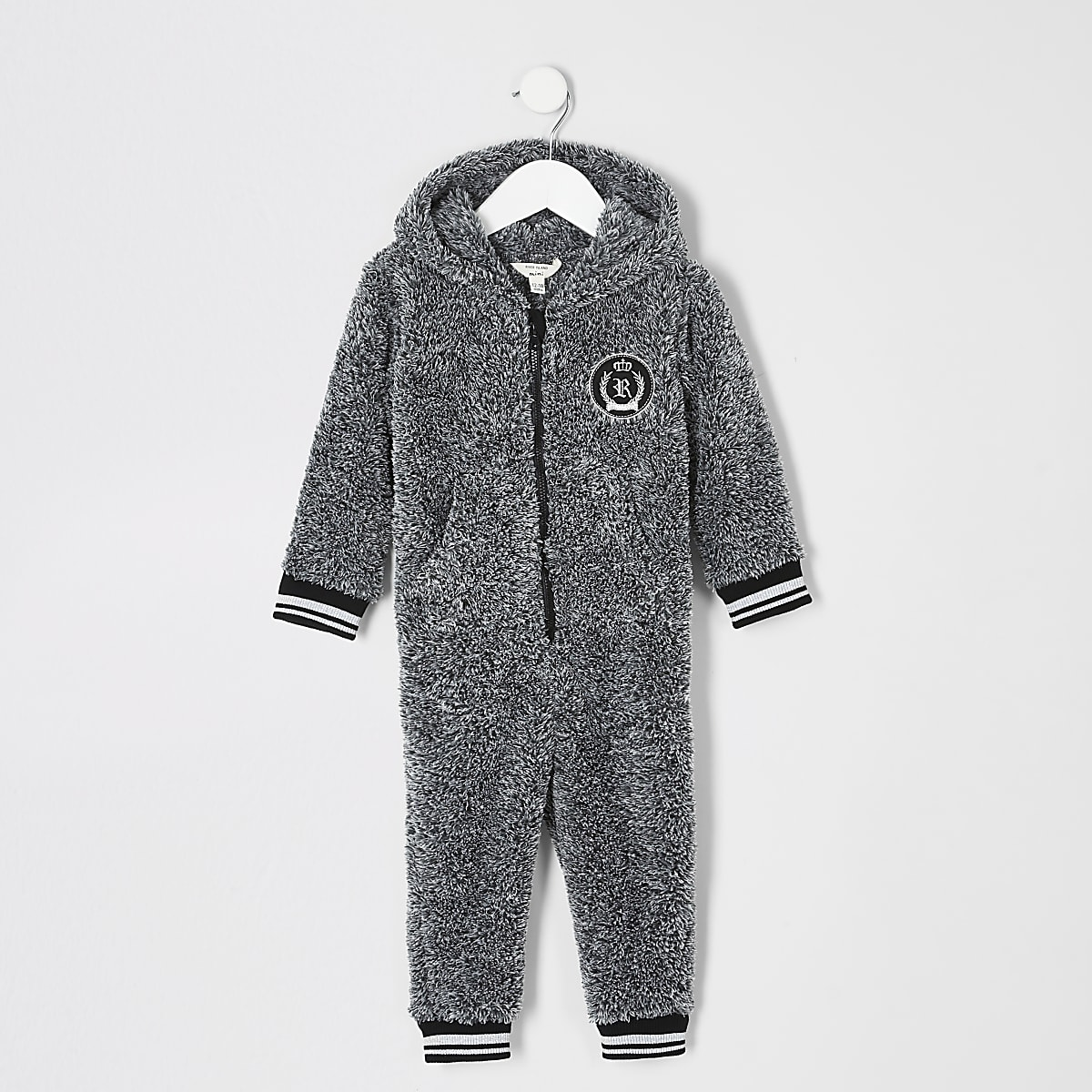 Mini boys grey borg RI onesie