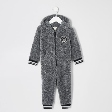 Mini boys grey borg RI onesie
