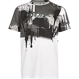 T-shirt « Prolific » à imprimé façon coulure blanc pour garçon