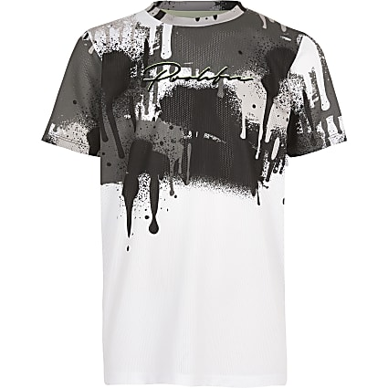 Boys white drip Prolific T-shirt