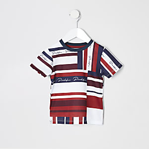 Mini boys red 'Prolific' mesh T-shirt