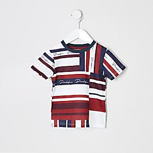 Mini - Rood T-shirt met mesh en 'Prolific'-print voor jongens