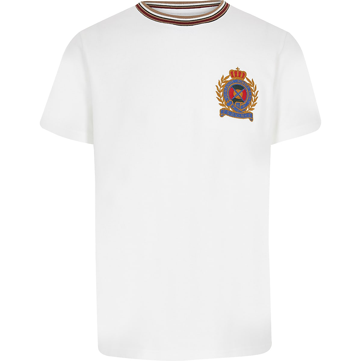 Boys white badge T-shirt