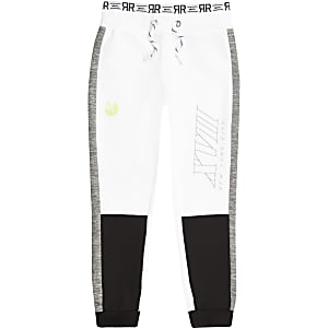 RI Active – Pantalon de jogging colour block blanc pour garçon