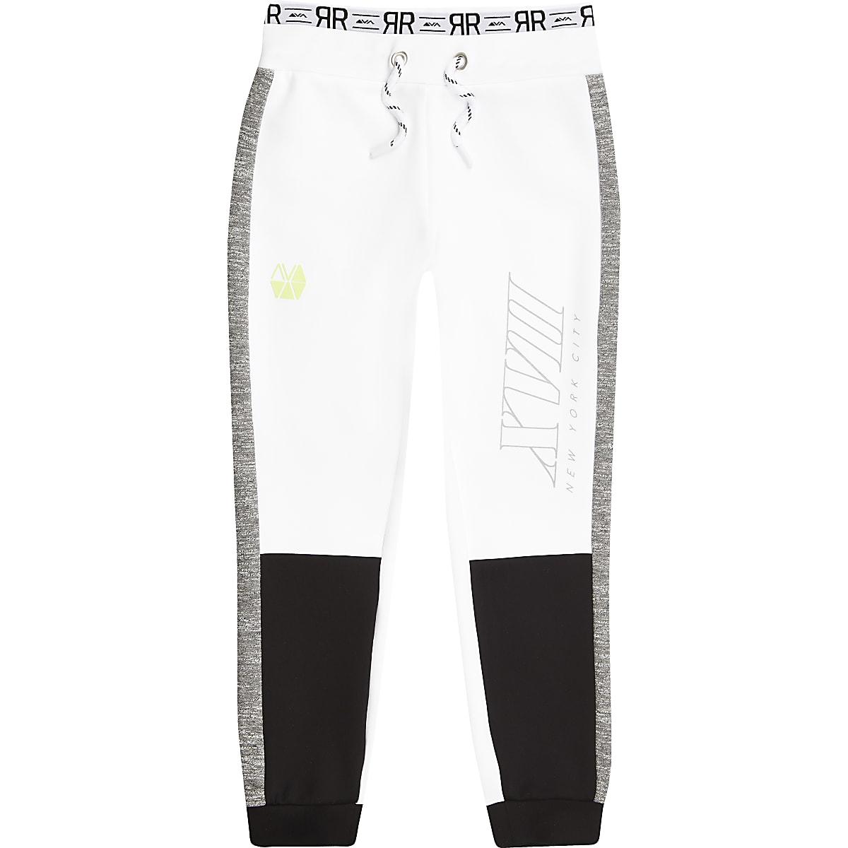 RI Active – Pantalon de jogging colour block blanc pour garçon
