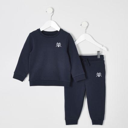 Mini boys navy jogger outfit