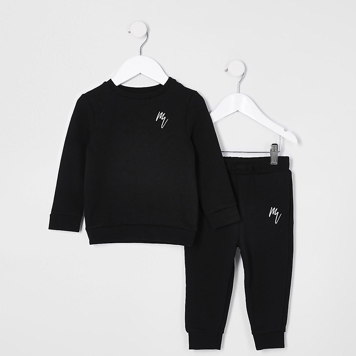 Mini boys black RI sweatshirt outfit