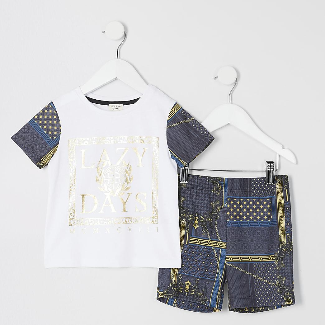 "Mini – Barock-Pyjama ""Lazy Days"" für Jungen"