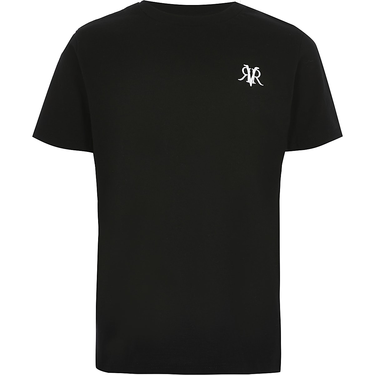 Boys black RI embroidered T-shirt