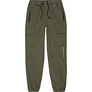 Boys khaki utility trousers