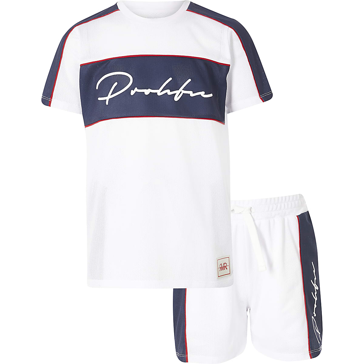 Boys white mesh 'Prolific' T-shirt outfit
