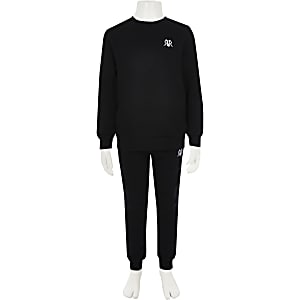 Boys black RI sweatshirt outfit