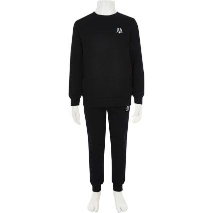Boys black RI sweatshirt outfit