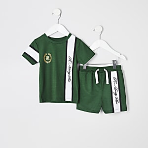 Mini boys green R96 T-shirt outfit