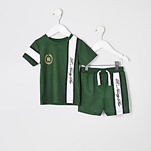 Ensemble avec t-shirt R96 vert mini garçon