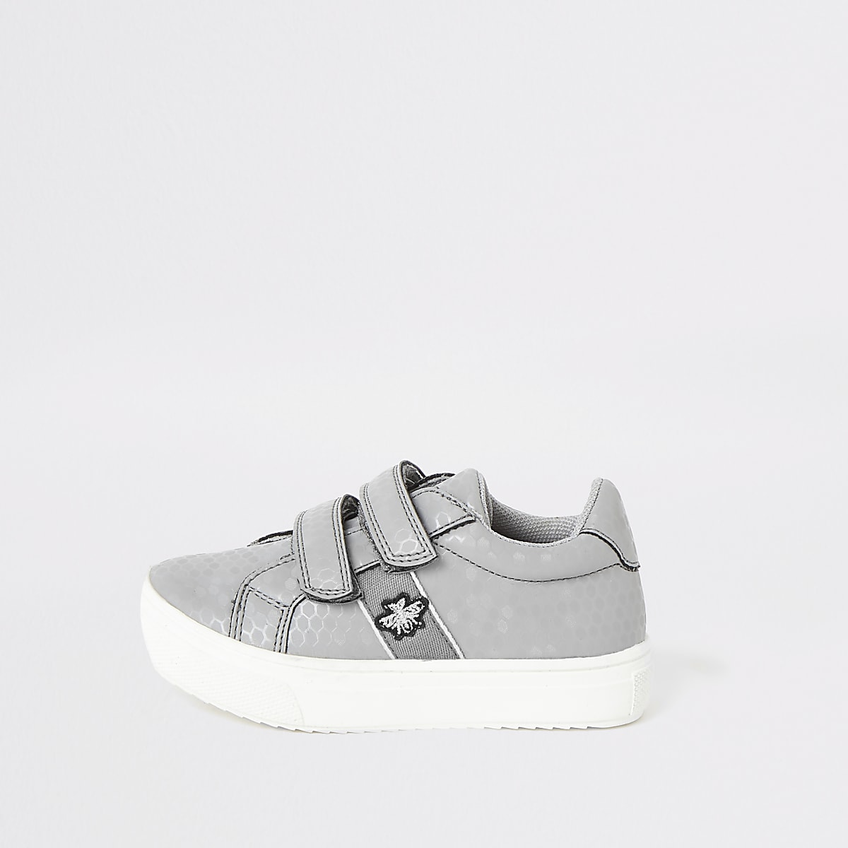Mini boys grey velco trainers