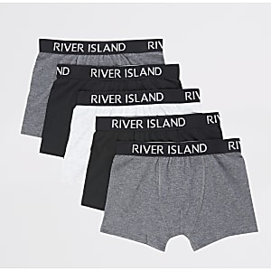Boys grey RI boxers 5 pack