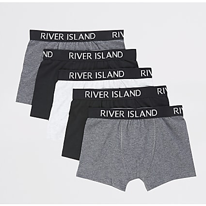 Boys grey RI boxers multipack