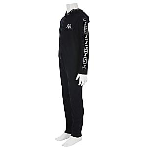 Zwarte onesie met RI-print voor jongens