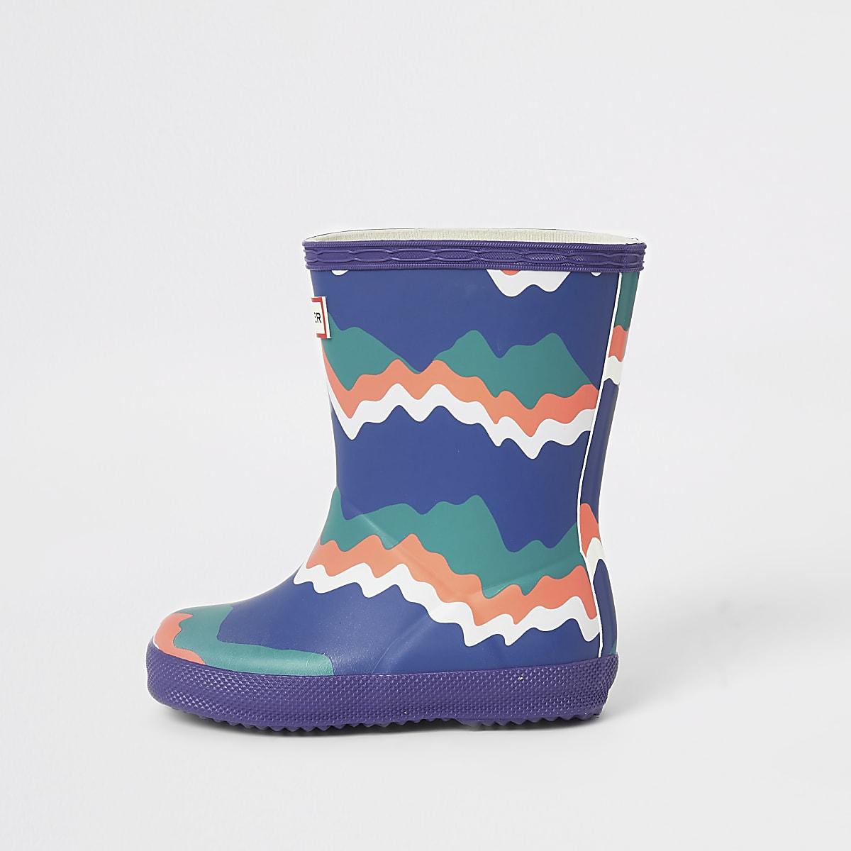 Mini boys Hunters Original purple boots