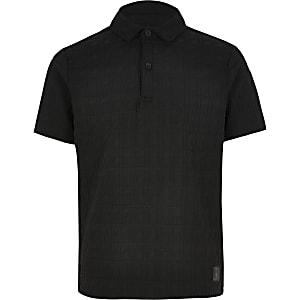 Boys RI monogram polo shirt
