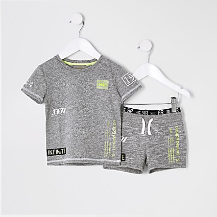 Mini boys RI Active grey short outfit