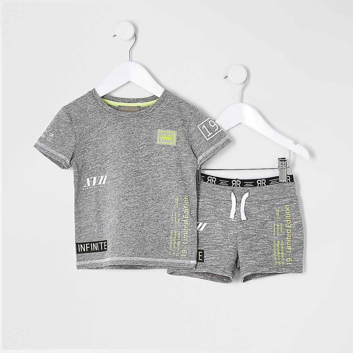 Mini boys RI Active grey short outfit