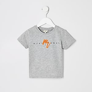 Mini boys grey neon 'Maison Riviera' T-shirt