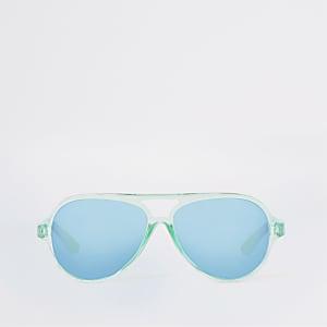 Mini - Turquoise pilotenzonnebril voor jongens