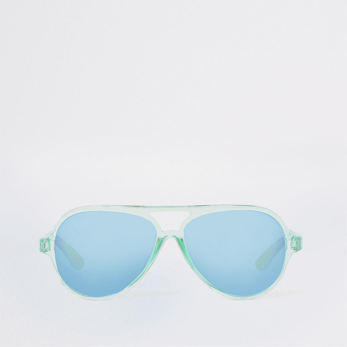 Mini boys turquoise aviator sunglasses
