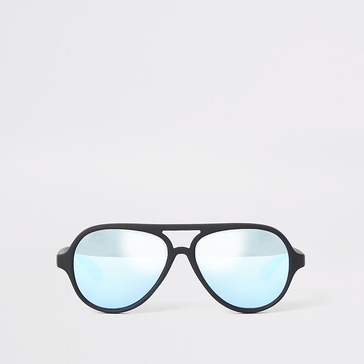 Mini boys black aviator sunglasses