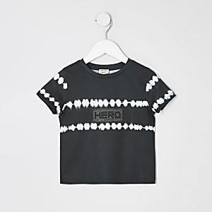 Mini - Zwart tie-dye T-shirt voor jongens