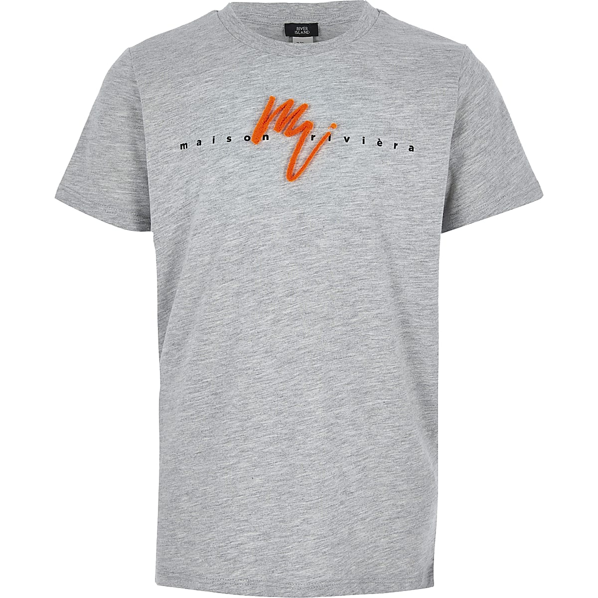 Boys grey neon Maison Riviera T-shirt
