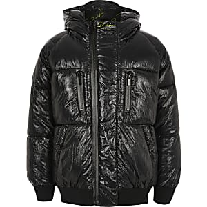 Boys black 'Prolific' puffer jacket