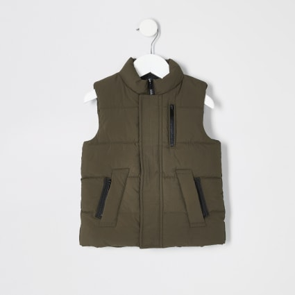 Mini boys khaki padded gilet