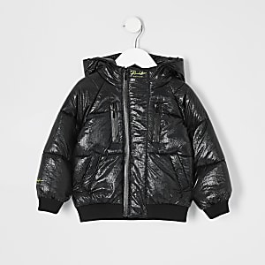 Mini – Prolific– Schwarze Pufferjacke für Jungen