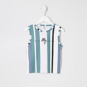 Mini - Blauw gestreept hemdje voor jongens