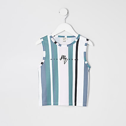 Mini boys blue stripe vest