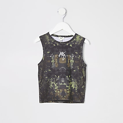 Mini boys khaki camo vest