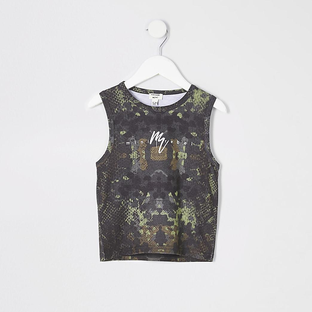 Mini boys khaki camo vest