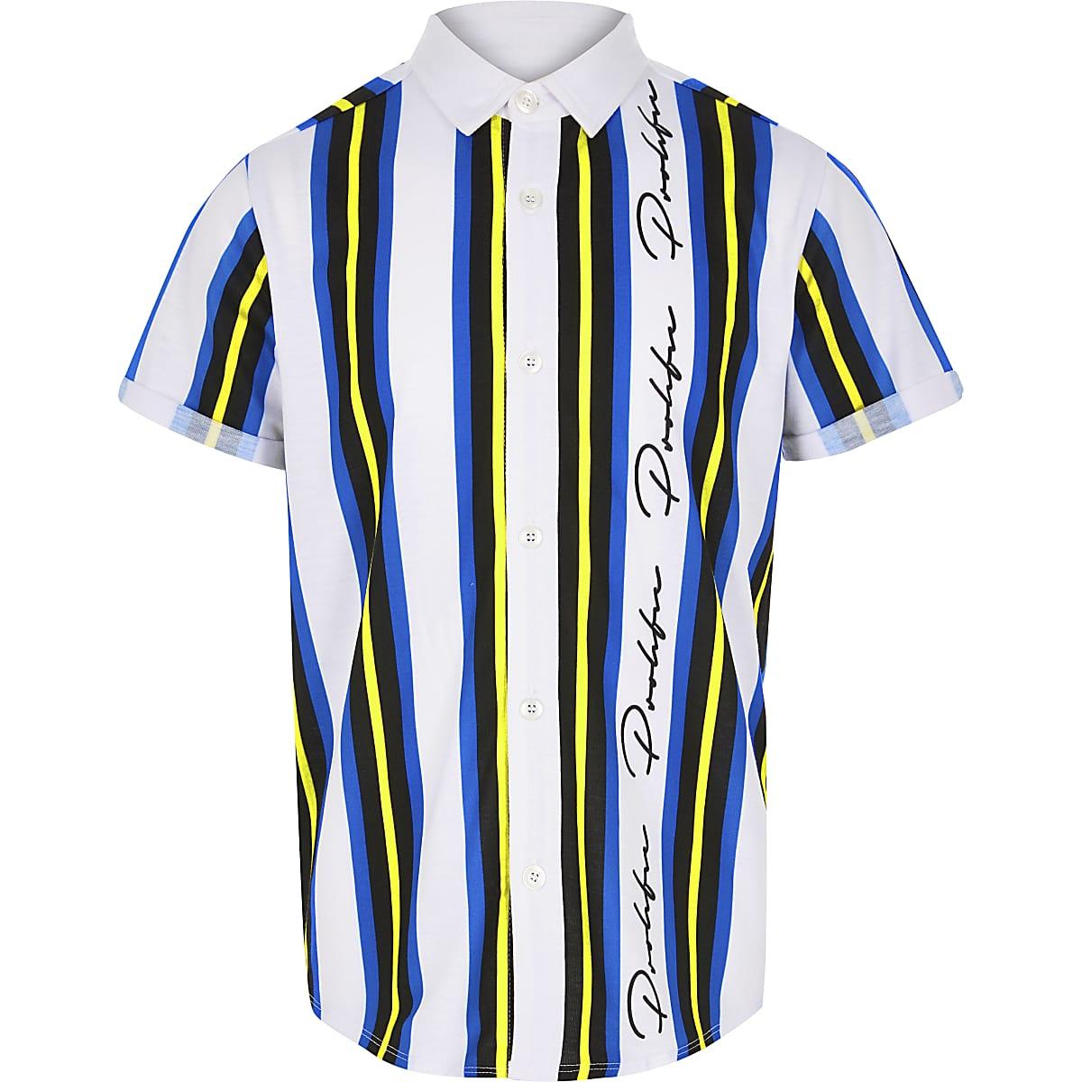Boys blue 'Prolific' stripe shirt
