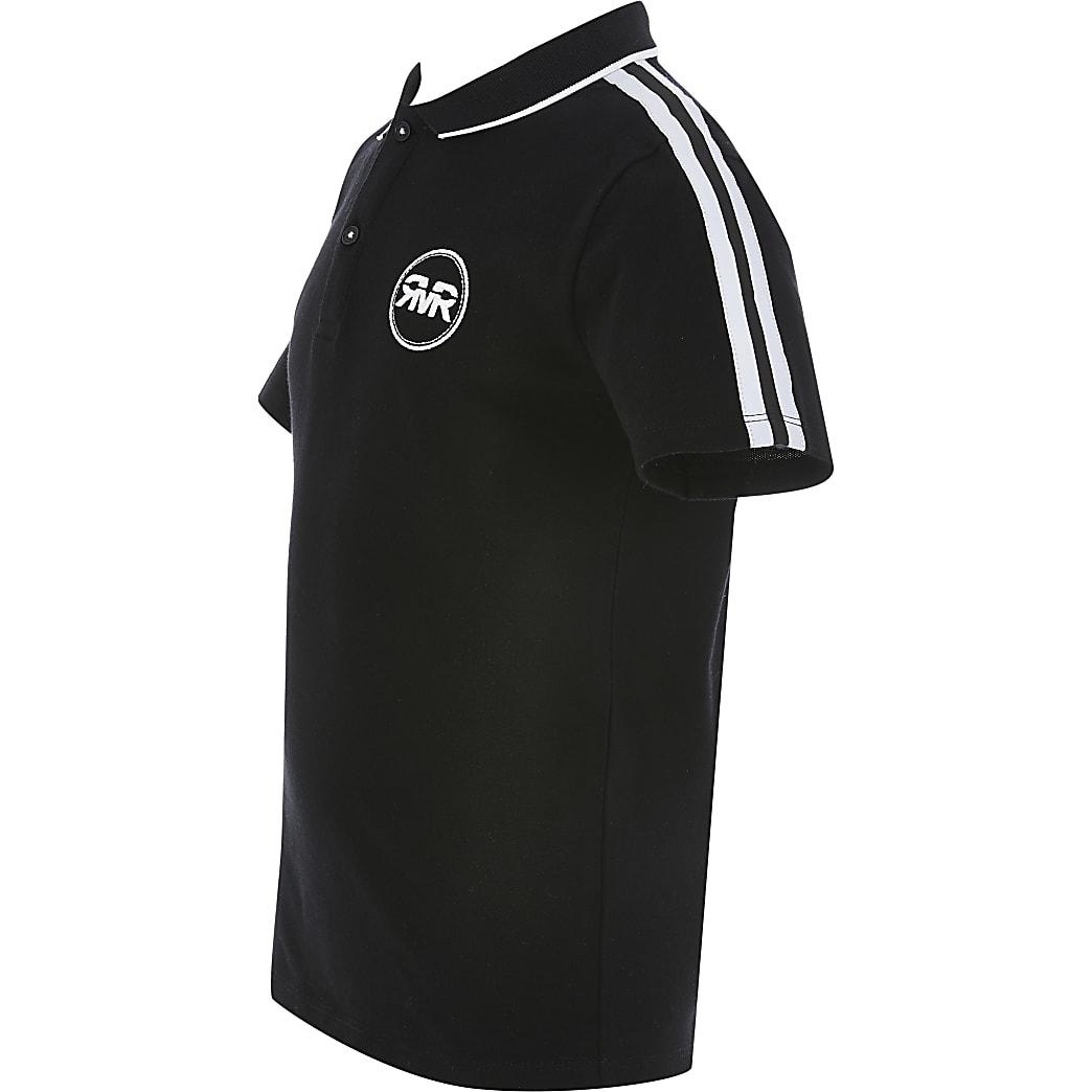 Schwarzes Polohemd