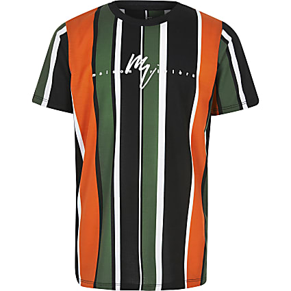 Boys orange stripe 'Maison riviera' T-shirt