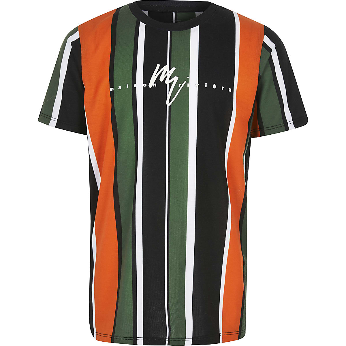 Boys orange stripe Maison riviera T-shirt